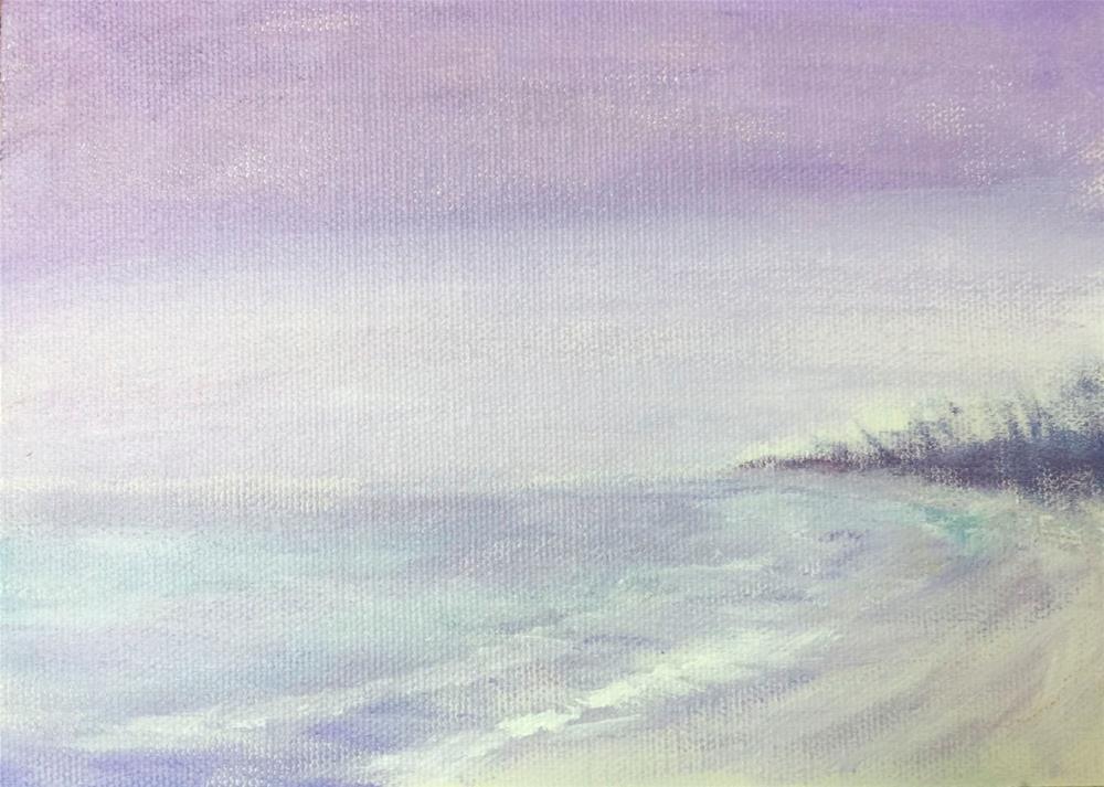 """Rain on the Beach"" original fine art by Jo-Ann Sanborn"