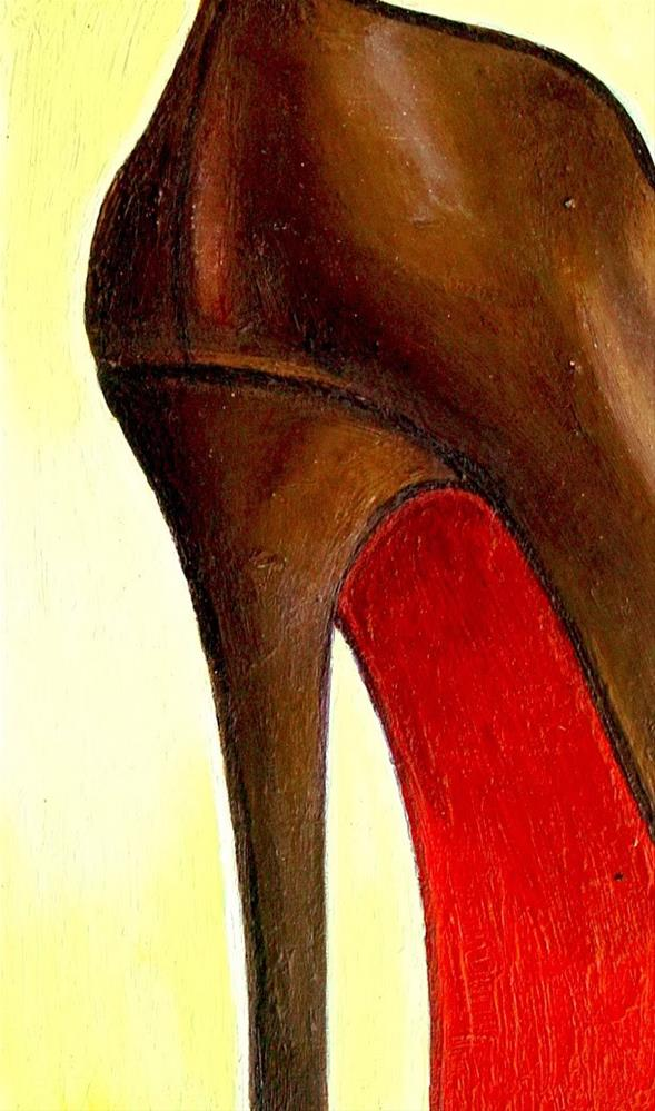 """Christian Louboutin 24- Still Life Painting Of Brown Christian Louboutin Shoe"" original fine art by Gerard Boersma"
