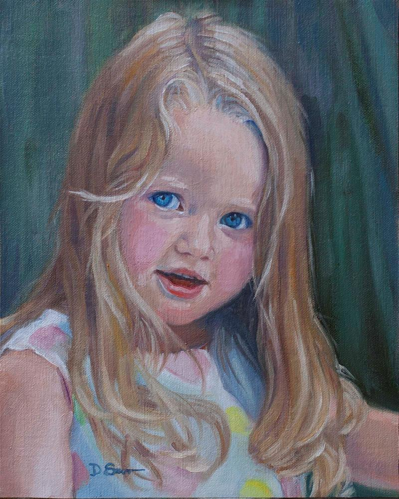 """Maddie"" original fine art by Deborah Savo"