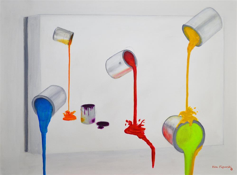 """""""Paint Cans"""" original fine art by Ken Figurski"""