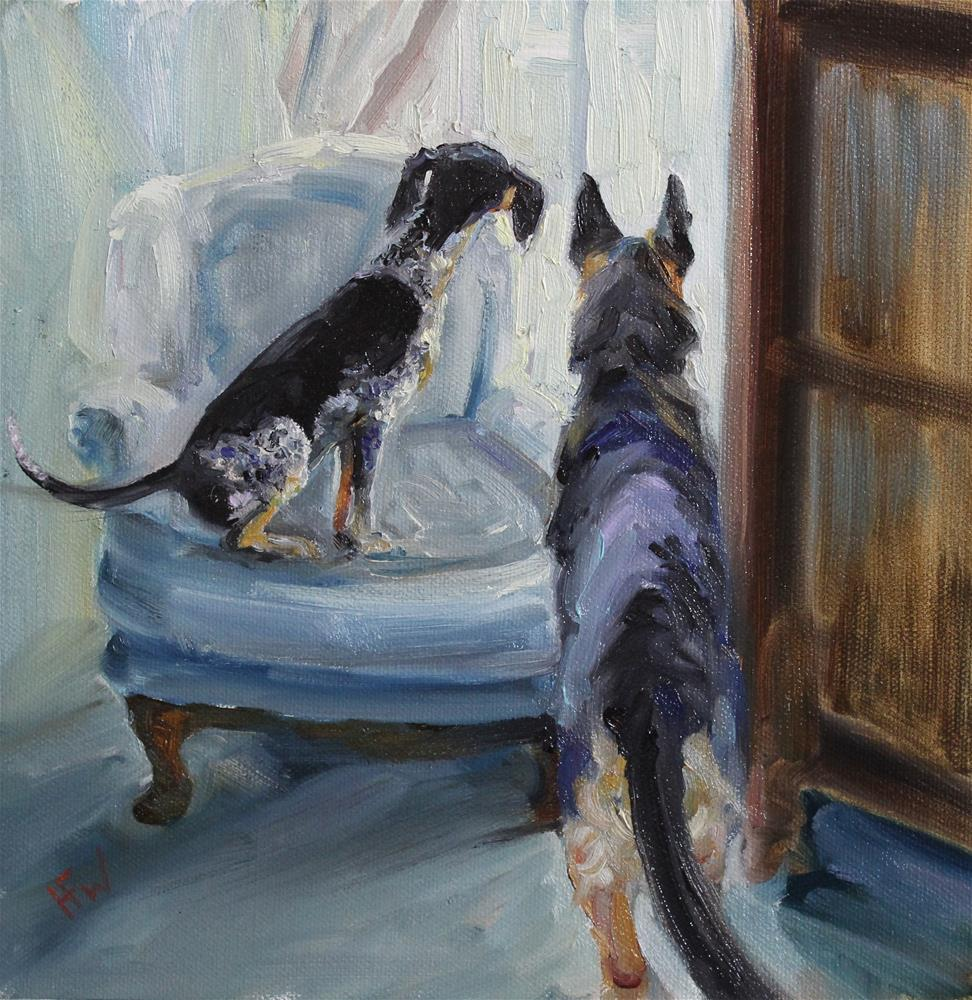 """Neighborhood Watch"" original fine art by H.F. Wallen"