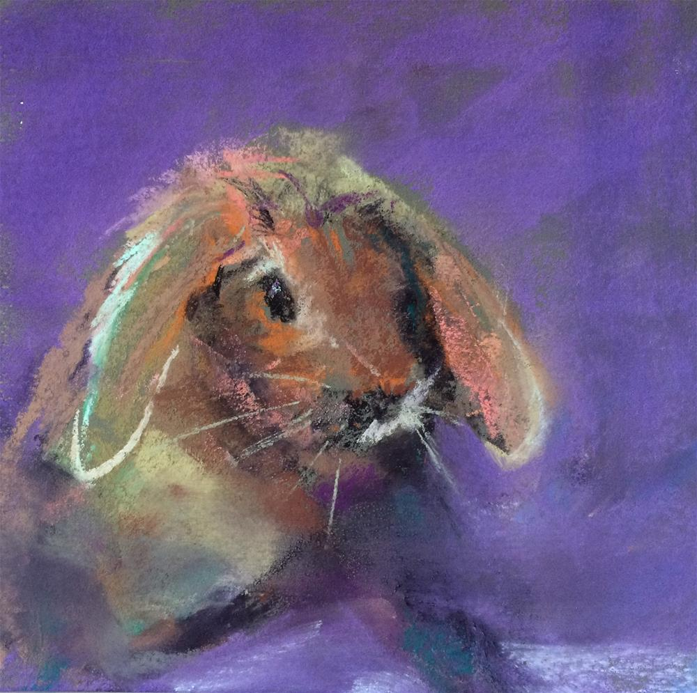 """Rabbit II"" original fine art by Cristine Kossow"