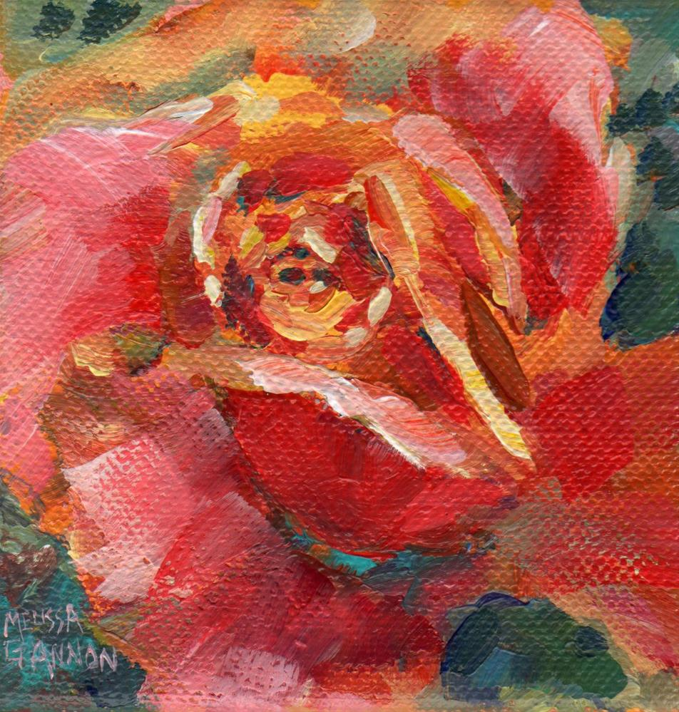 """Orange Rose"" original fine art by Melissa Gannon"