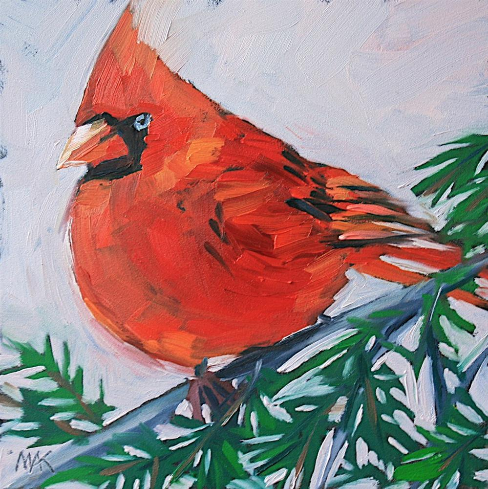 """Cardinal 2"" original fine art by Mary Anne Cary"