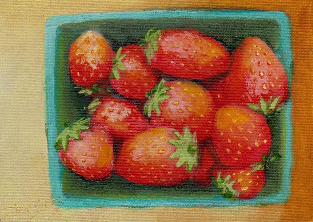 """strawberry"" original fine art by Vova DeBak"