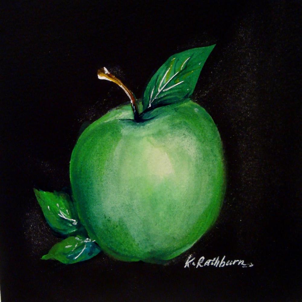 """Granny Smith"" original fine art by Kathy Los-Rathburn"