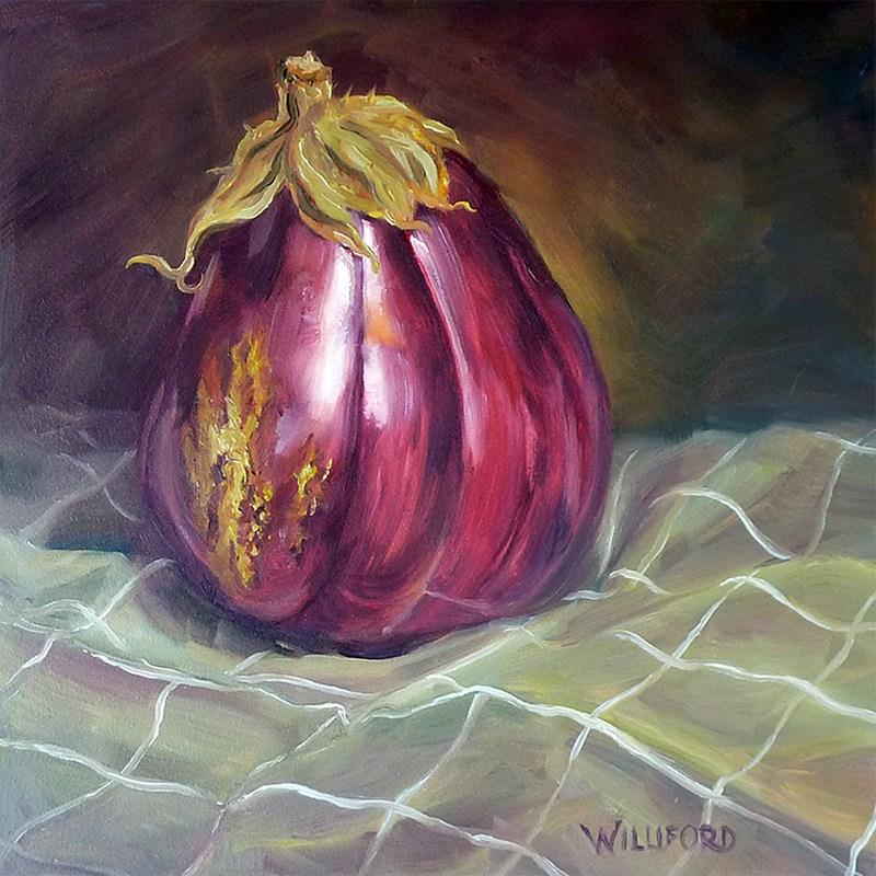 """I am the Eggplant"" original fine art by Kathleen Williford"