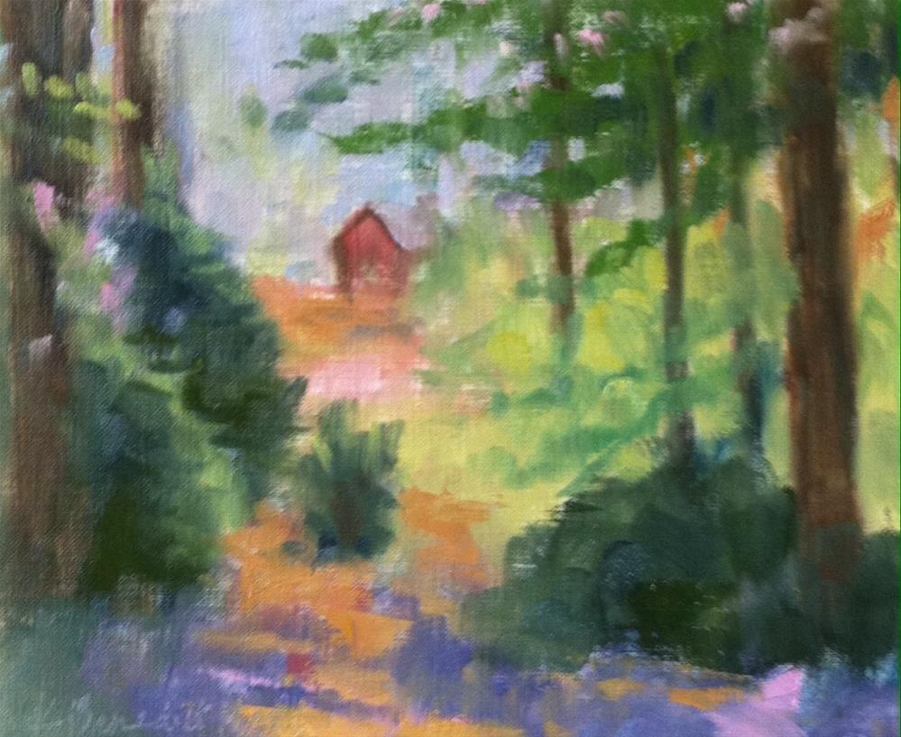 """""""Forest Scene"""" original fine art by Katharine March"""