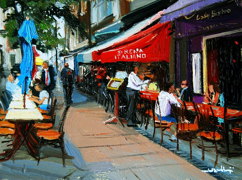 """Lunch Time, James Street"" original fine art by Adebanji Alade"
