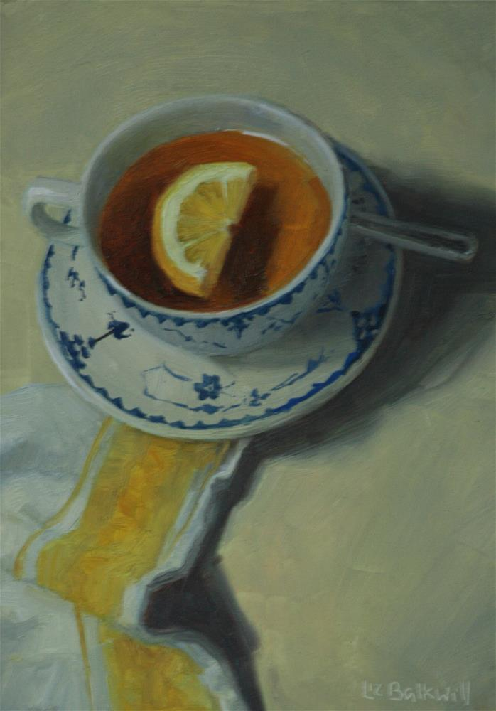 """Lemon Tea 2"" original fine art by Liz Balkwill"