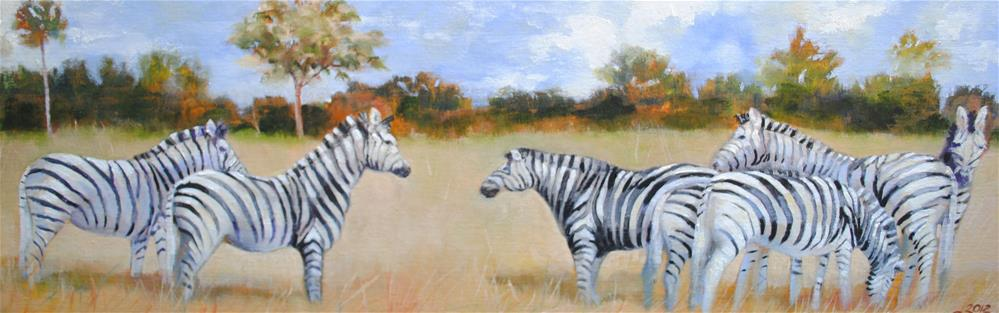 """Serengetti Zeal"" original fine art by Nan Perry"