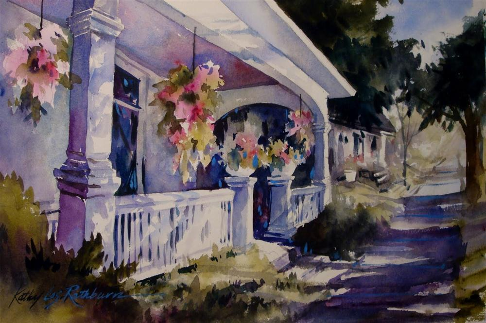 """Summer Shadows-step-by-step"" original fine art by Kathy Los-Rathburn"