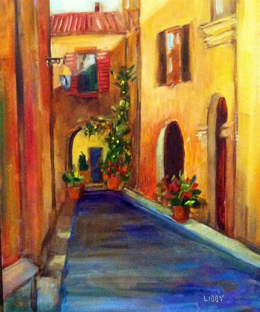 """Italian Street"" original fine art by Libby Anderson"