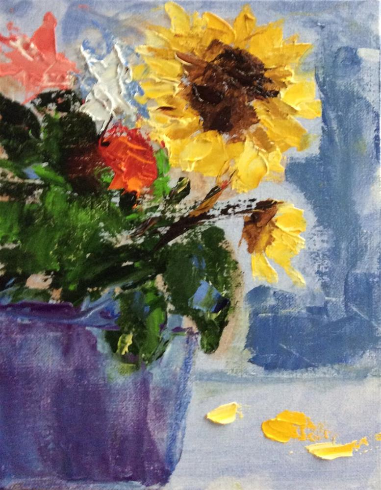 """Wild and Sunny"" original fine art by Patty Barnes"