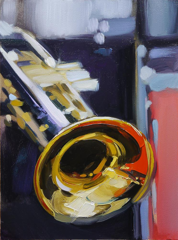 """trumpet-5"" original fine art by Beata Musial-Tomaszewska"