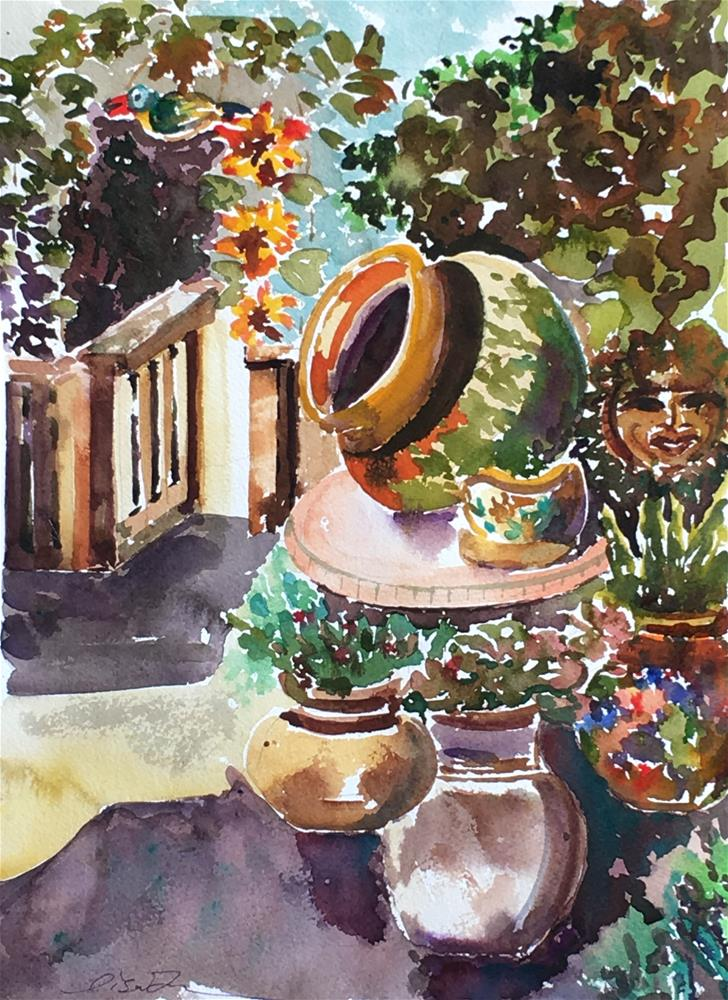 """Painting Garden in Temecula"" original fine art by Lisa Fu"
