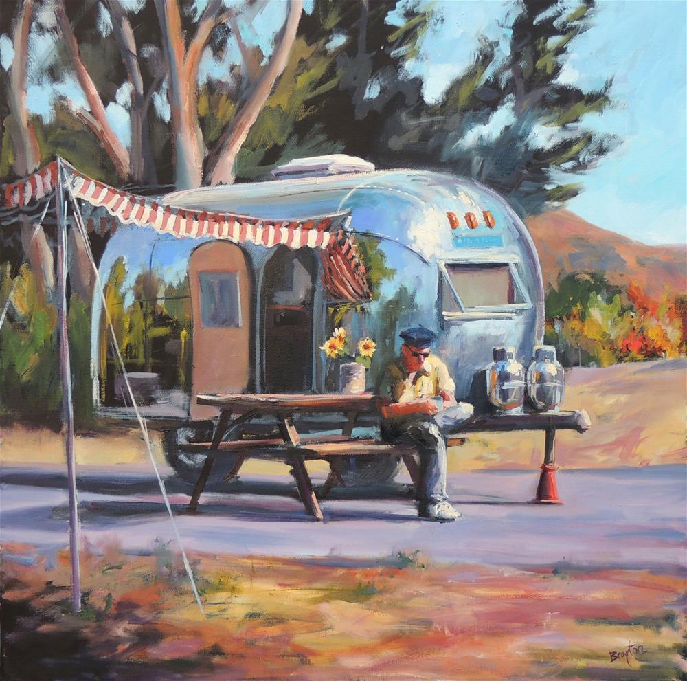 """King of the Road"" original fine art by Wendy Brayton"