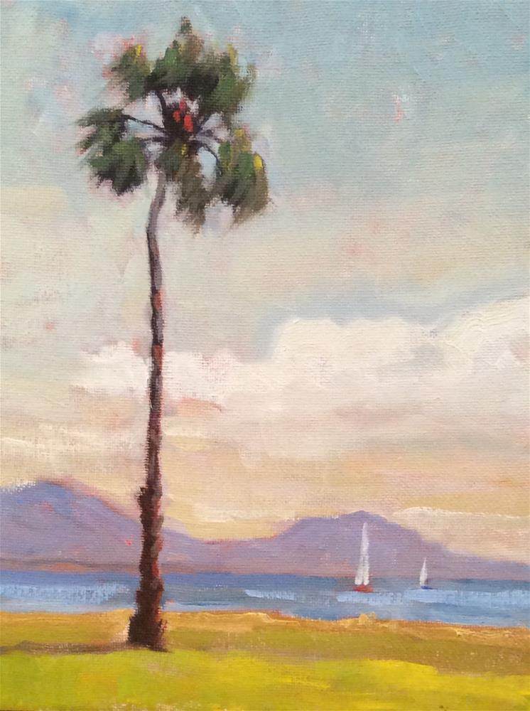 """Palm"" original fine art by Leigh Alexandra Sparks"