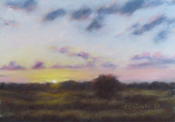 """Morning Sun Kiss"" original fine art by Carol Zirkle"