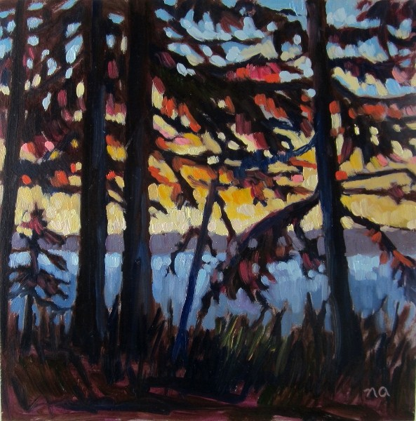"""""""In Shadows and Sunsets"""" original fine art by Nicki Ault"""