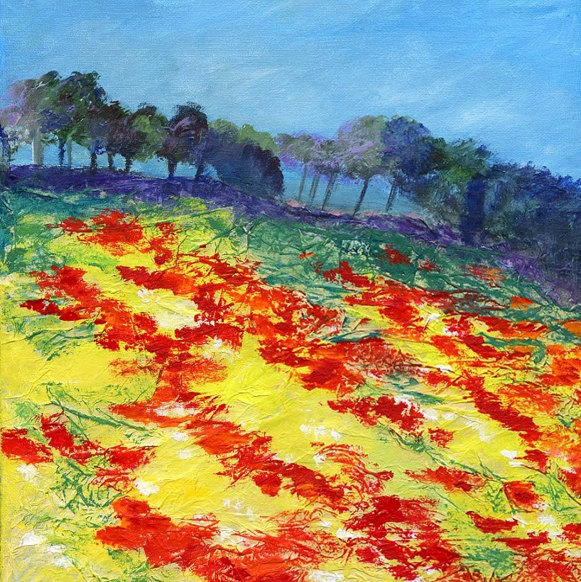 """Poppies in My Field"" original fine art by Sue Furrow"