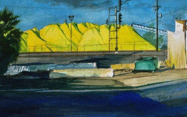 """Sulfur Pile #1"" original fine art by David J. Teter"