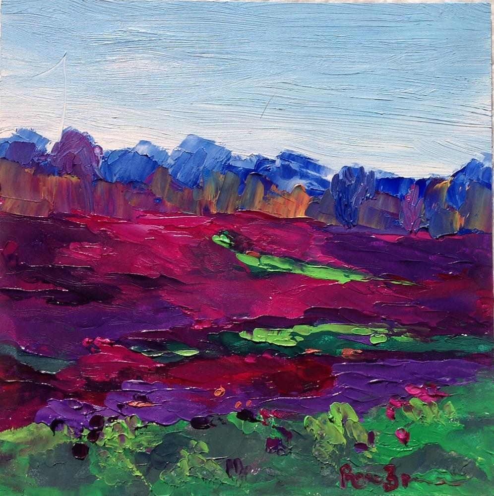 """Field of Spring Flowers"" original fine art by Rose Brenner"