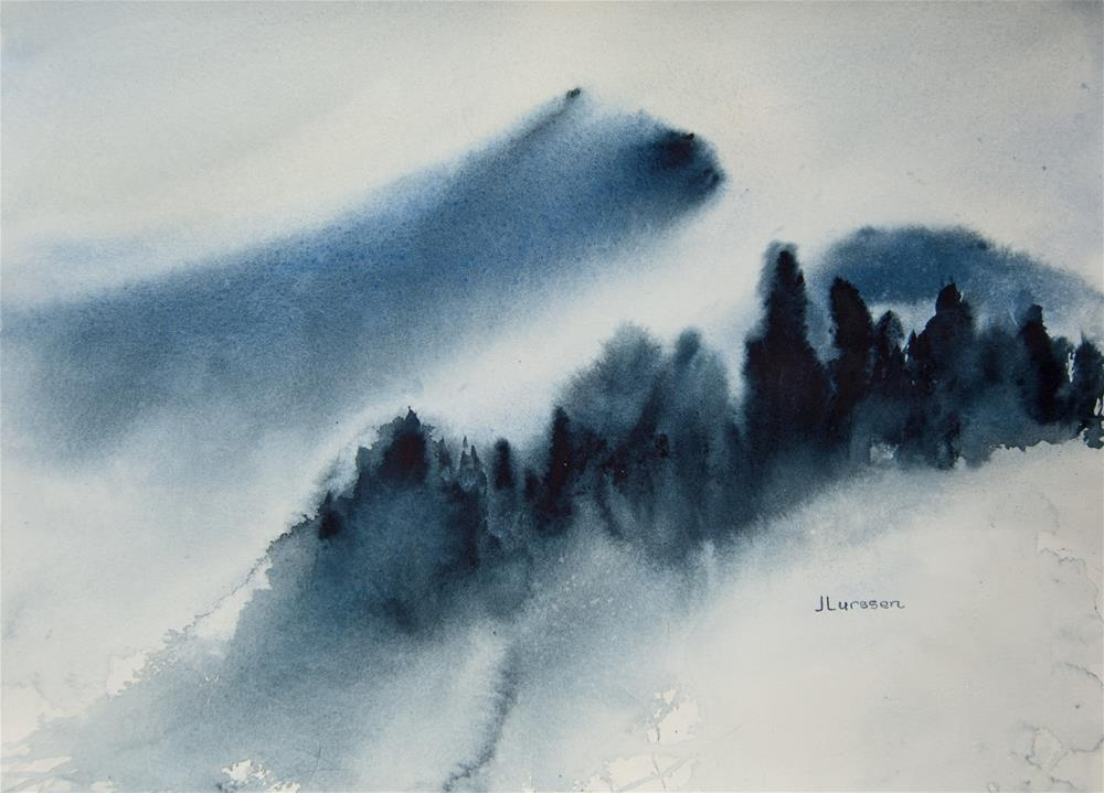 """Mt Tam In The Mist"" original fine art by Jean Lurssen"