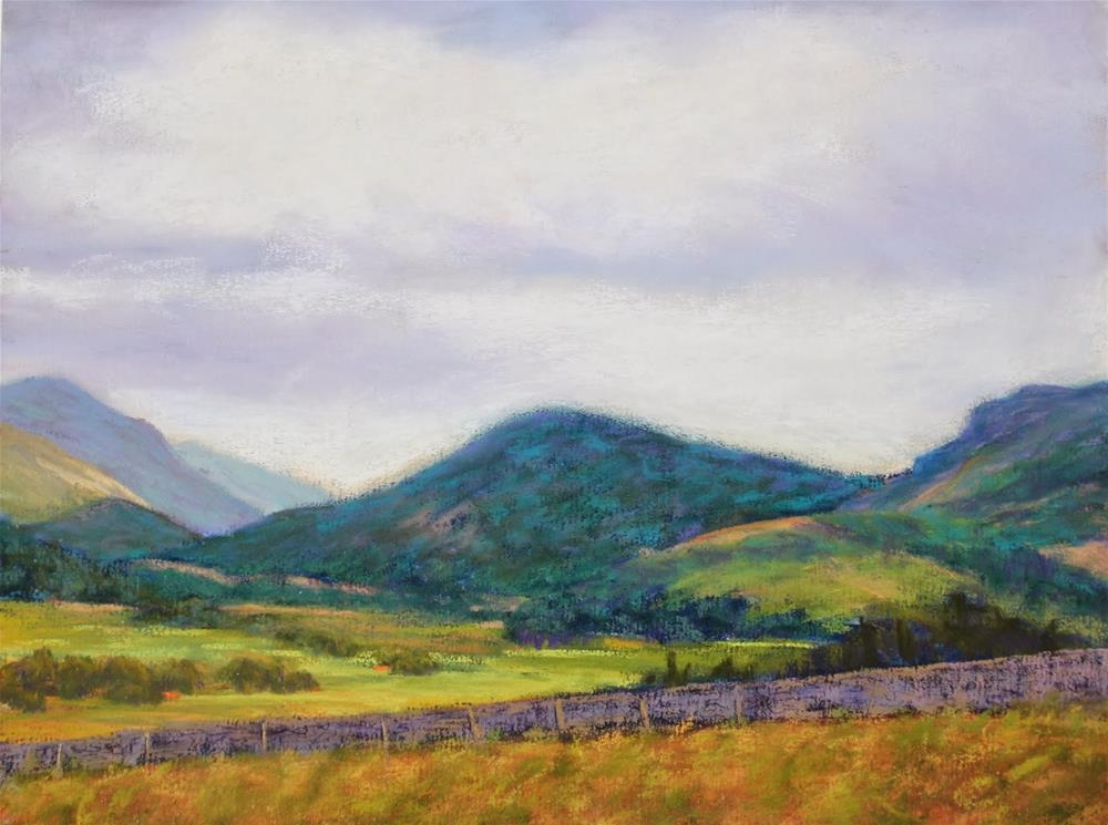 """Moody Mountains"" original fine art by Sharon Lewis"
