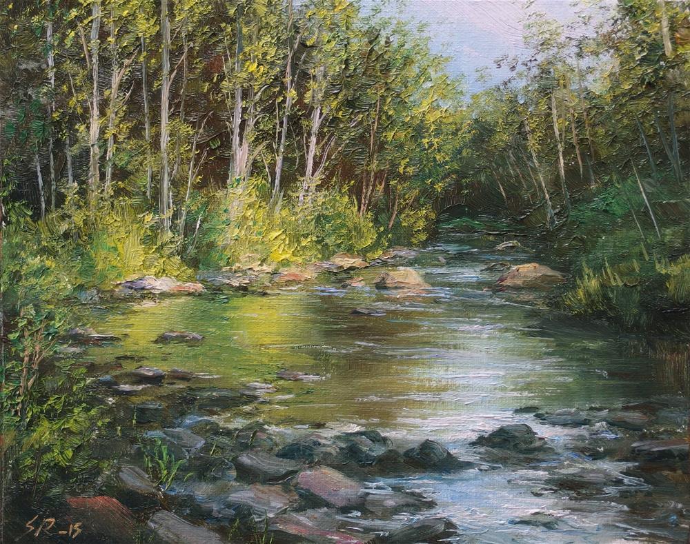 """""""Calm water"""" original fine art by Stig Rosenlund"""