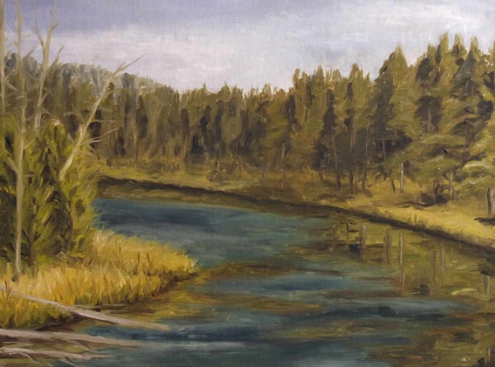 """""""Bend in the River"""" original fine art by Rachel Steely"""
