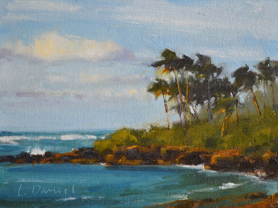 """Rocky Inlet"" original fine art by Laurel Daniel"