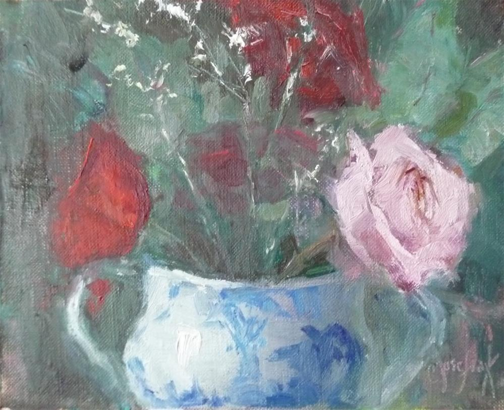 """In the Pink"" original fine art by Carol Josefiak"