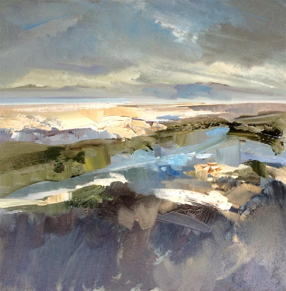 """Light on the Marsh and Sandbank"" original fine art by Anne Wood"