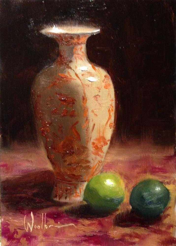"""Chinese Urn and Limes"" original fine art by Dorothy Woolbright"