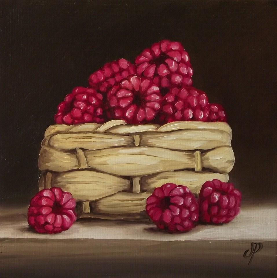 """Raspberry basket"" original fine art by Jane Palmer"