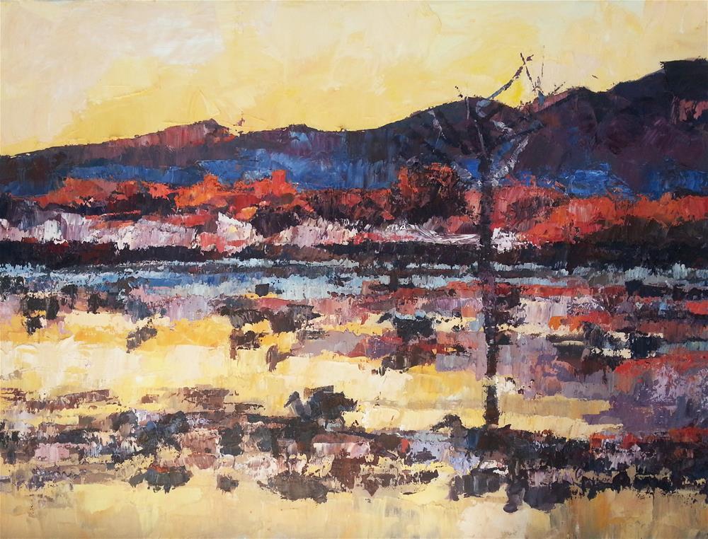 """Warm Glow on the Water"" original fine art by Nava Judith"