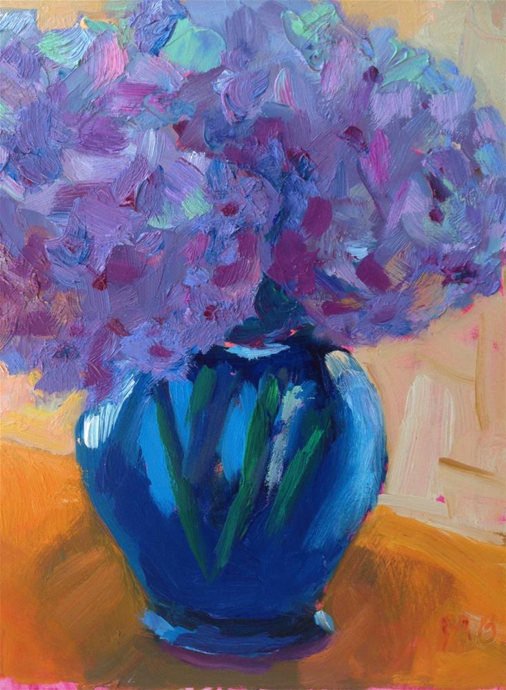 """Hydrangeas"" original fine art by Marcia Bergtholdt"