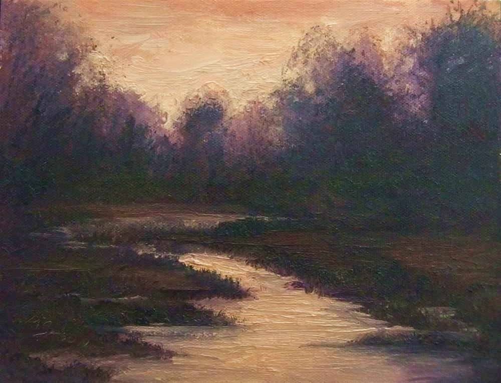 """Forest Dawn"" original fine art by Michael Sason"