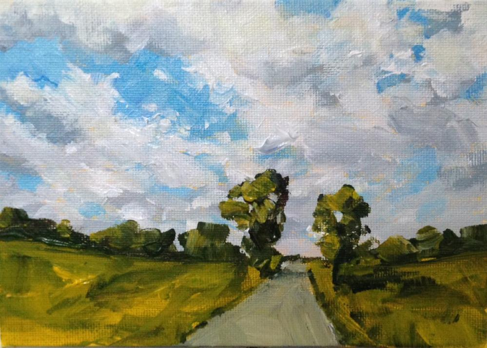 """Country Drive"" original fine art by Shannon Bauer"