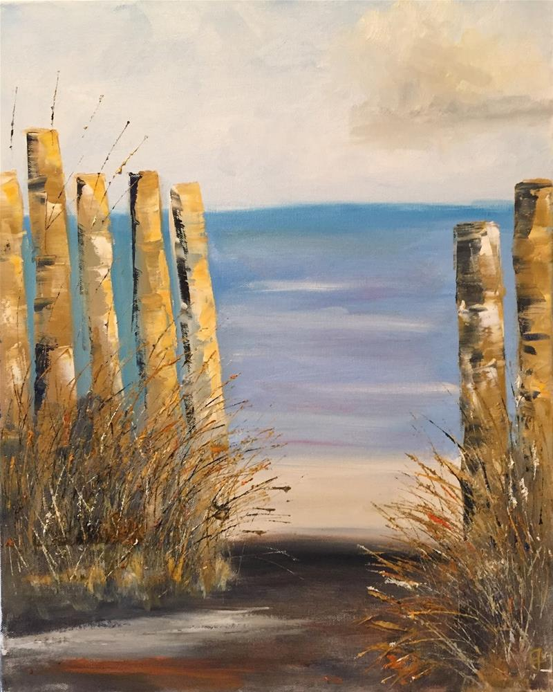 """The Path"" original fine art by Gayle Lambeth"