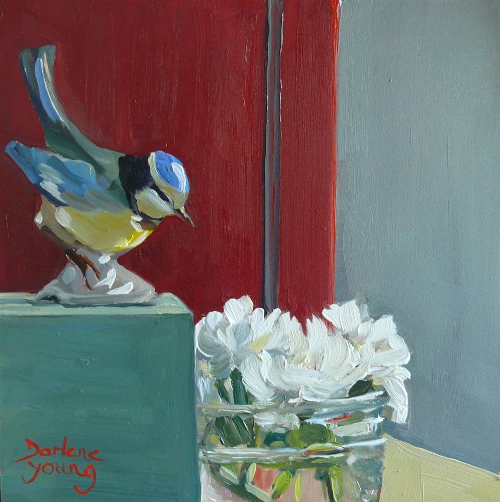 """882 Pure Love, oil on board, 6x6"" original fine art by Darlene Young"