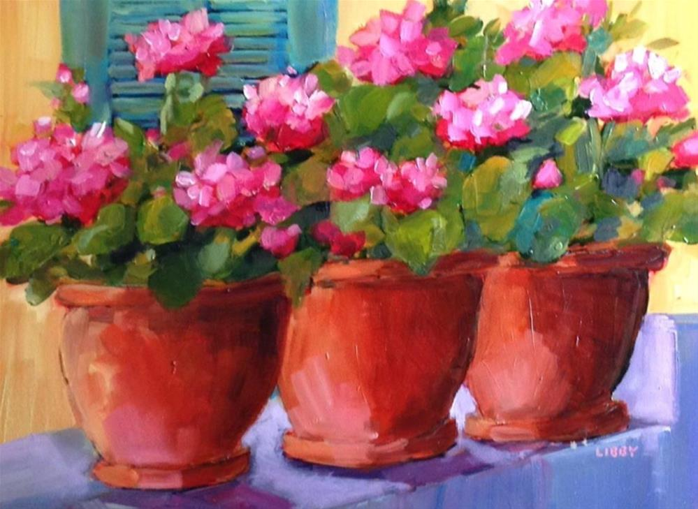 """""""Line 'm Up"""" original fine art by Libby Anderson"""