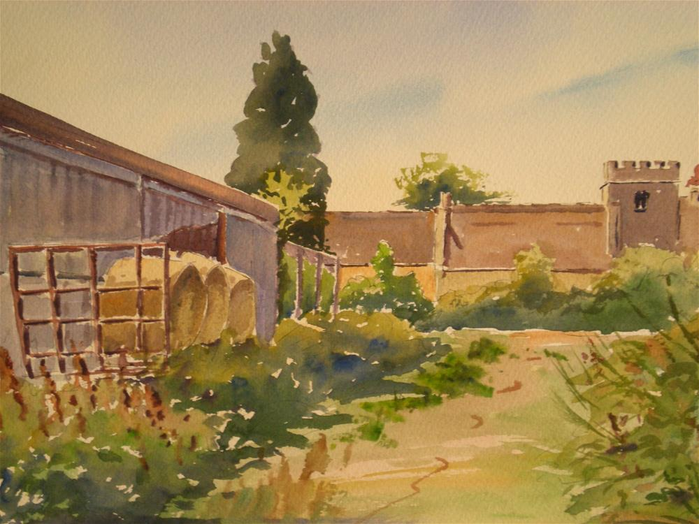 """Farm Buildings"" original fine art by Graham Findlay"