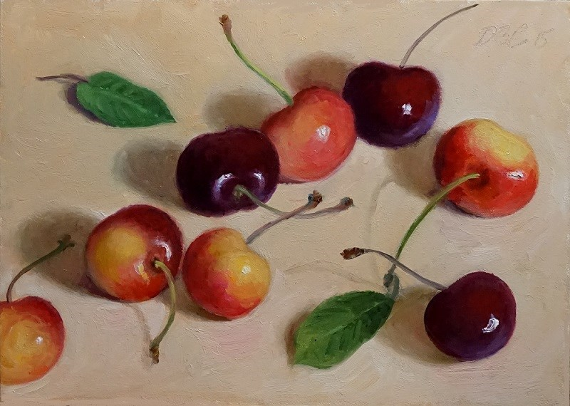 """Summer Cherries"" original fine art by Debra Becks Cooper"