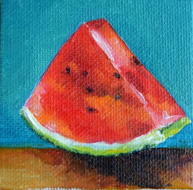"""""""Watermelon"""" original fine art by Stefan Peters"""