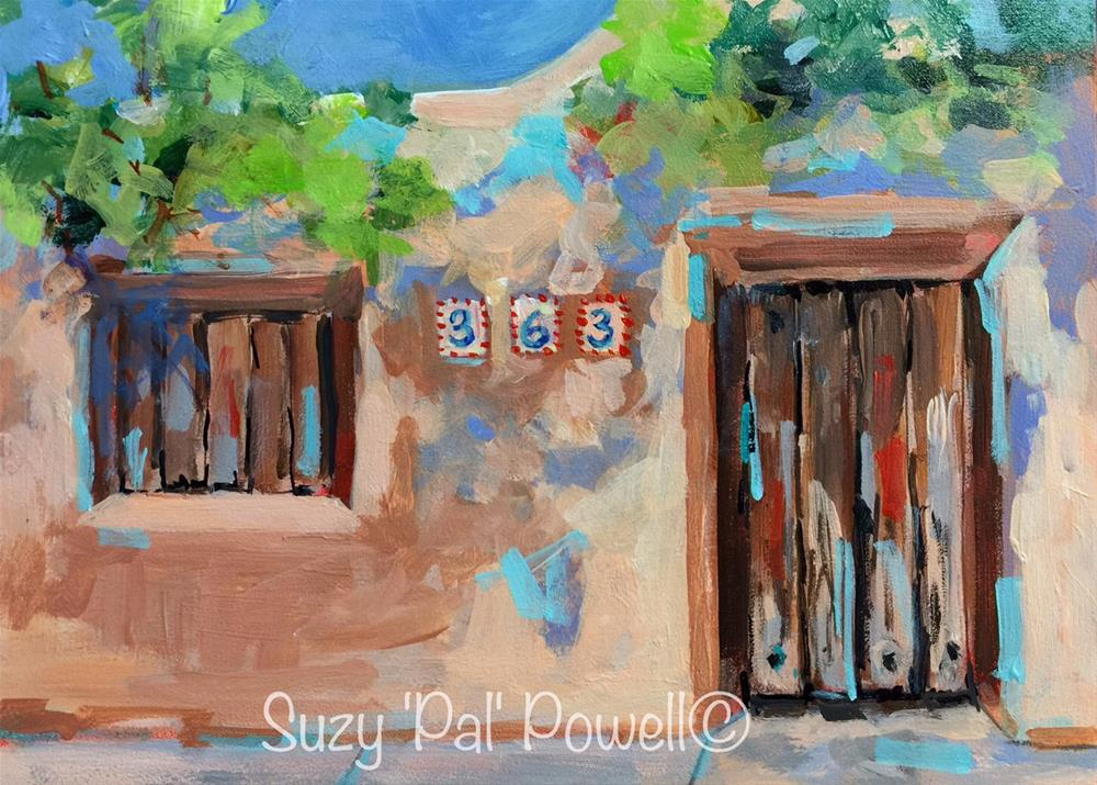 """Santa Fe #1"" original fine art by Suzy 'Pal' Powell"