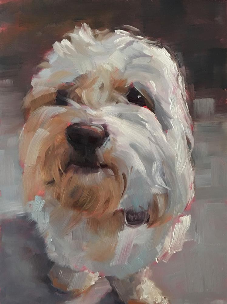 """""""Clyde"""" original fine art by Deborah Newman"""