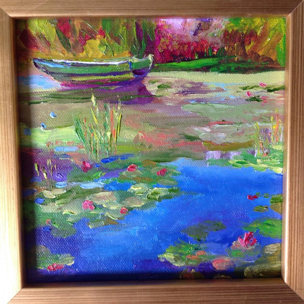 """The Green Boat"" original fine art by Rose Brenner"