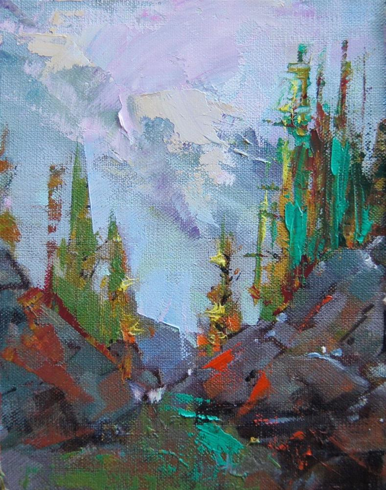 """Obove Lake OHara 2"" original fine art by Brian Buckrell"